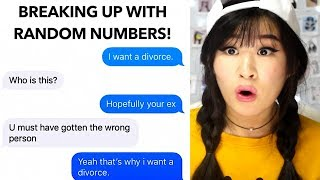Break Up Texts Sent To Random Numbers!