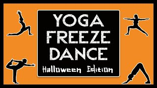 Halloween PE Games: Yoga Freeze Dance