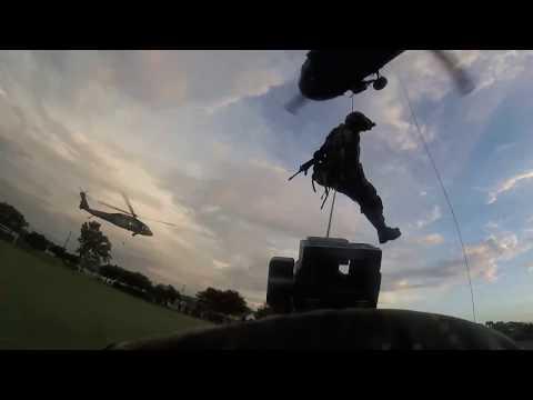 Brigada Especial Contra el Narcotráfico - Entrenamiento en Asalto Aéreo