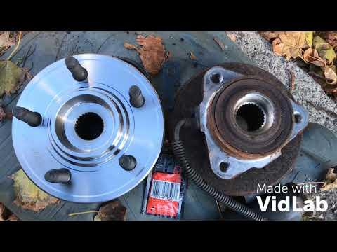 2006 Mercury Mountaineer Front Hub+Wheel bearing replacement