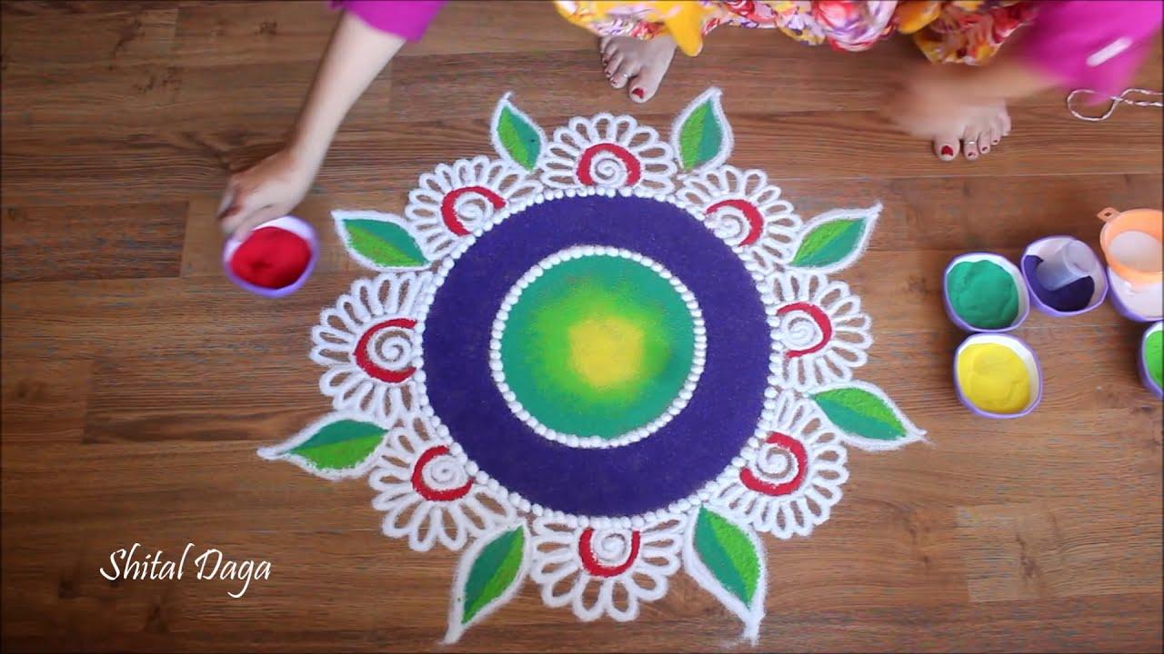 beautiful diwali rangoli design by shital daga