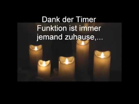 LED Kerze flackernd mit Timer Funktion Zeitschaltuhr