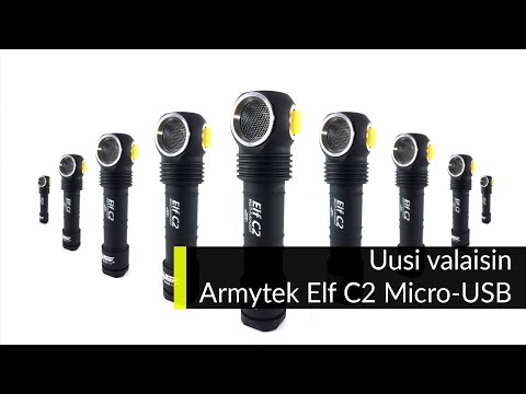Uusi valaisin Armytek Elf C2 Micro USB