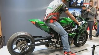 Best of Kawasaki H2R / Top Speed / Incredible Sound of 300 HP / Acceleration