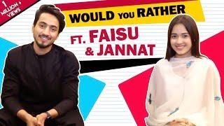 Jannat Zubair Rahmani And Faisal Shaikh Play Would You Rather With India Forums