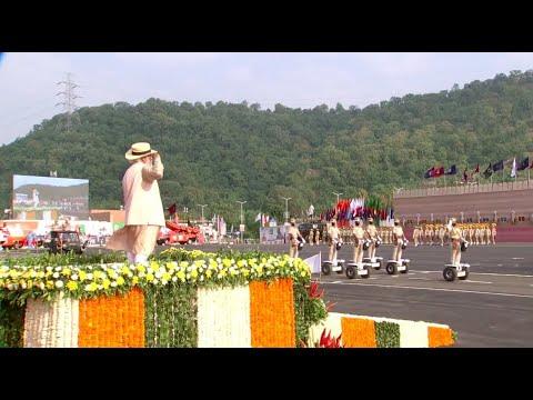 PM Modi at National Unity Day Parade 2020 , Statue of Unity, Gujarat