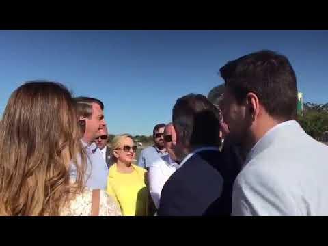 Governador de MT e primeira-dama recepcionam Bolsonaro em Barra