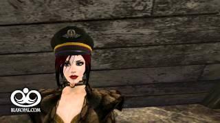 BlakOpal Steampunk Lady Aviator Cap (brown) in motion