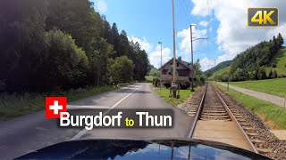 Road Trip in Switzerland🇨🇭Driving from Burgdorf to Thun