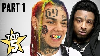TOP 5 | RAPPER FACE TATTOOS ( Tekashi69, 21 Savage, Lil Xan & more... )