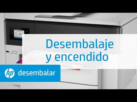 Desembalaje y encendido de la impresora multifunción de gran formato HP OfficeJet Pro de las series 7730, 7740