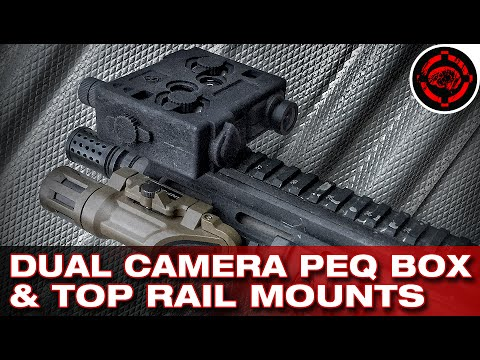 Dual Camera PEQ Box & Down Sight FPS Style Mount (Mobius Cameras)