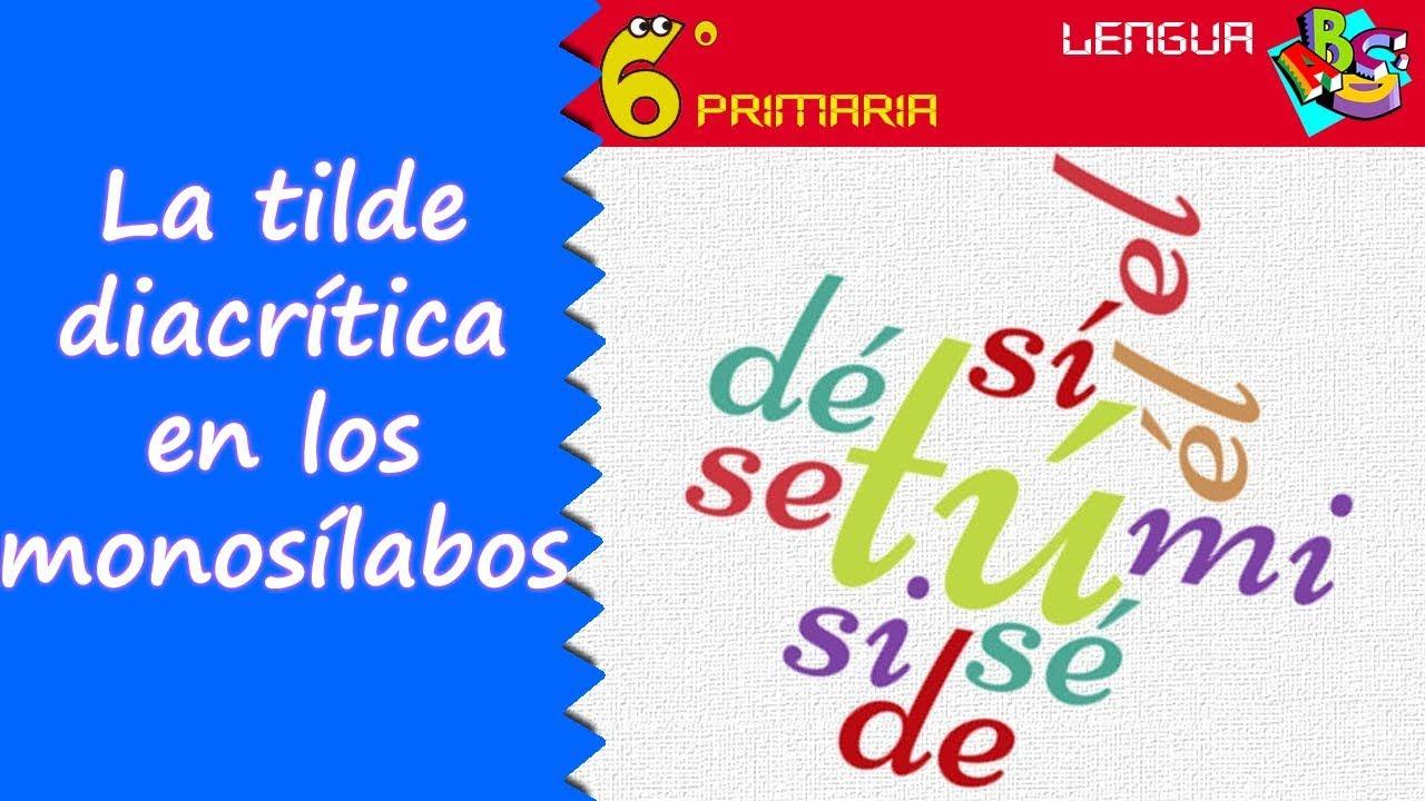 Tilde diacrítica en monosílabos. Lengua, 6º Primaria