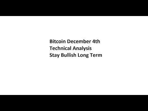 Bitcoin Dec 4th Technical Analysis – Stay Bullish Long Term