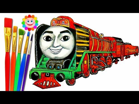 How to draw thomas and friends trains for children video lady     How to draw train thomas and friends trains video for kids coloring pages  yong bao
