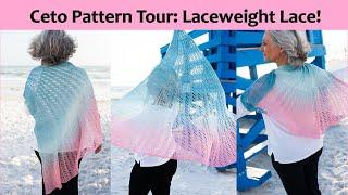 Large Laceweight Lace Shawl Knitting Pattern Ceto Pattern Tour