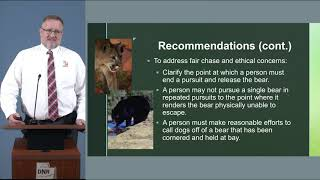 Proposed black bear and cougar rule amendments