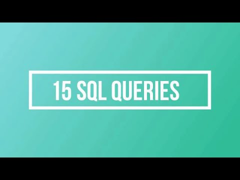 Oracle Queries Practice Exercise|Sql Interview Questions - YouTube