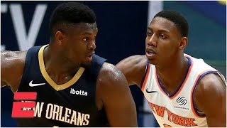 Will Zion leave the Pelicans and team up with RJ Barrett on the Knicks in the future?   Bart & Hahn
