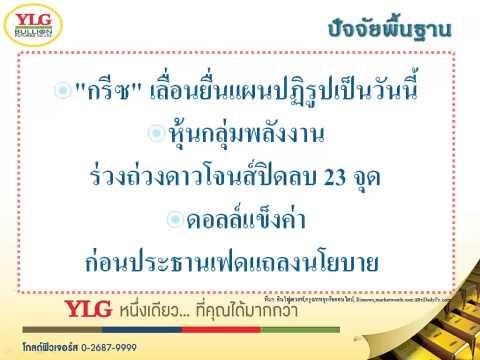YLG บทวิเคราะห์ราคาทองคำประจำวัน 24-02-15