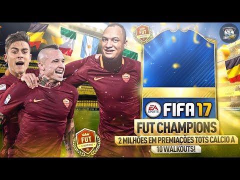 EU MITO DEMAIS!!! 😱 + DE 2 MILHÕES NOS PACKS TOTS CALCIO A - RECOMPENSAS WL  FIFA 17