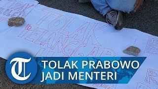 Tolak Prabowo Subianto Jadi Menteri, 4 Aktivis 1998 Gelar Aksi Tutup Mulut