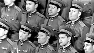 """""""The Road Song"""" by Glinka - The Alexandrov Red Army Choir (1962)"""