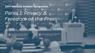 Click to play: Privacy and Freedom of the Press - Event Audio/Video