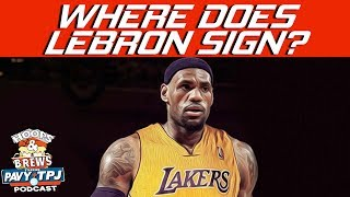 Where Does LeBron Sign ? | Hoops N Brews
