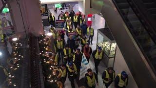 Nuremberg: grève du rail et manifestions de gilets jaunes