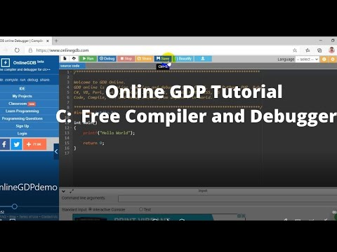 Online GDB Tutorial C Free Compiler and Debugger