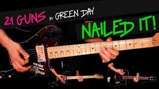 21 Guns - Green Day guitar cover by GV +chords