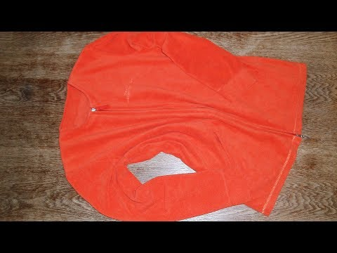 upcycling - Fleecejacke Größe 38 aus Fleeceshirt Größe 44 nähen