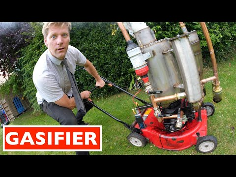 Say What: WOOD POWERED LAWN MOWER