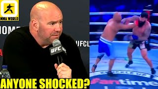 Dana White reacts to the tragic death of BKFC Fighter Justin Thornton after his KO loss in August