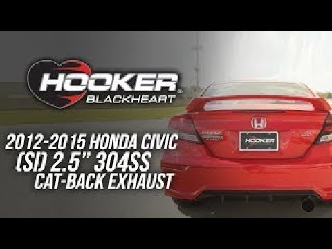 2012-2015 Honda Civic SI - Hooker Blackheart Cat-Back Exhaust System BH7306