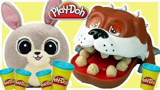 Play Doh & Gang Słodziaków & Dentysta • Chore zęby pieska • bajki dla dzieci