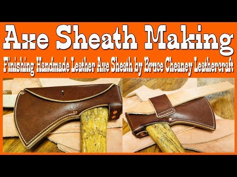 Axe Sheath Making - Part 2 - Leatherworking - Howto & Style