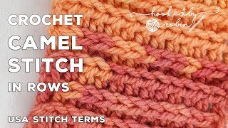 Crochet Camel Stitch in Rows   HDC in the 3rd Loop   Faux Knit Crochet Stitch Tutorials