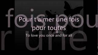Céline Dion - L'amour existe encore (French Lyric Video with