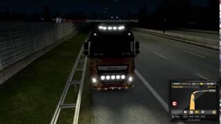 Гайд как включить доп свет в  Euro truck simulator 2