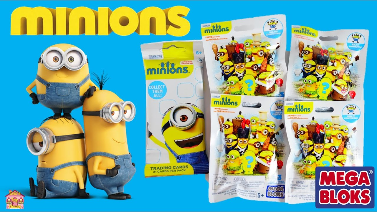 2015 Minions Movie MegaBloks Blind Bags with Code and Movie Exclusive Trading Cards