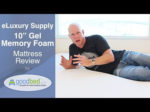 "eLuxurySupply 10"" Gel Memory Foam Mattress Review (VIDEO)"