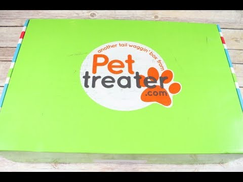 Pet Treater Box July 2017 Unboxing + Coupons #PetTreater
