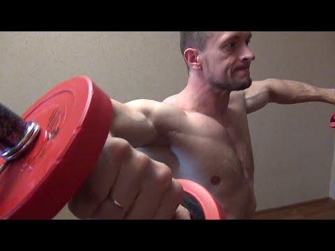 Упражнения на плечи с гантелями (видео)