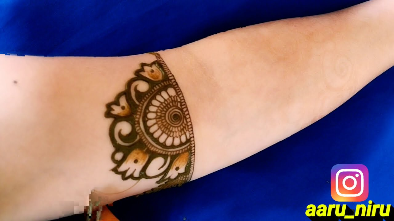 bridal mehndi design front and back hands by aaru mehndi