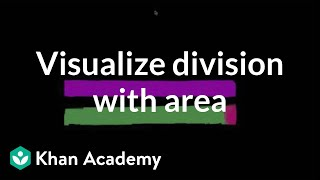 Area Models To Visualize Division Using Place Value