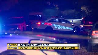 Woman in critical after shooting on Detroit's west side