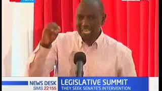 DP William Ruto addresses legislators at the legislative summit in Mombasa