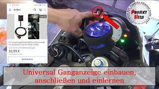 Tutorial: 30€ eBay Universal Ganganzeige am Motorrad nachrüsten /einbauen || gezeigt an Yamaha R6
